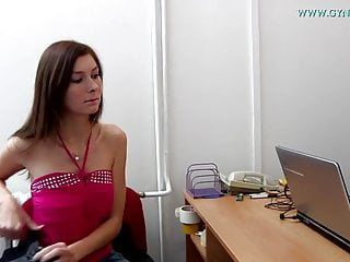 Vaginal exam video clips - Katia gyno exam