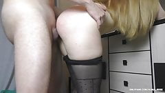 Fuck Teen Big Ass in Sexy Pantyhose - Handjob, assjob