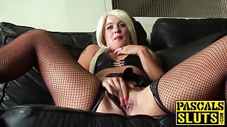Hot blonde babe Roxy Mae gets chocked and pussy fingered