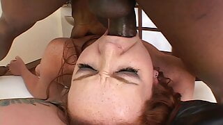 Lucky BBC guy in very hot FFM interracial threesome