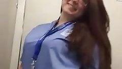 Chubby Nurse Showing her Sexy Body