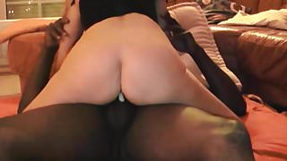 A Wife gets anal creampie during dp