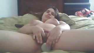 Young Woman with Big Tits Makes Herself Cum