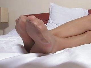 Nylonfeet bondage pictures - Nice woman nice nylonfeet 13