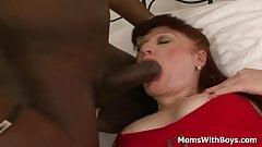 Redhead Mama Esmeralda Sauced With A Big Black Cock