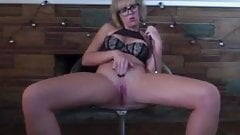 Horny Dildo Selfie in Glasses