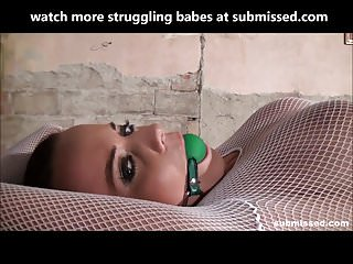 Ballgagged fetish gallery Bound babe ballgagged and dildoed