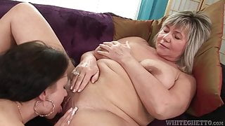 Old Milf still enjoying licking pussies and playing w toys
