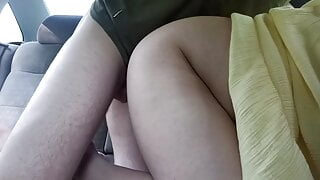 Doggy fuck in car with stranger for my dogging wife