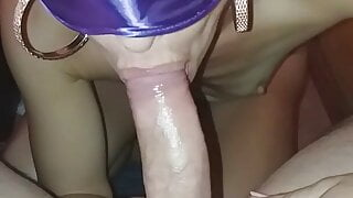 Greek milf gives me a blowjob and i come in her mouth