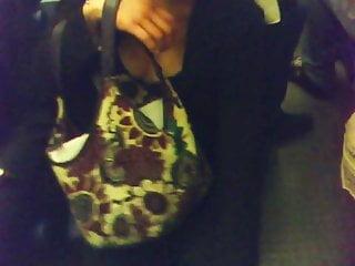 Large mature lingerie Cute brune large downblouse in paris subway