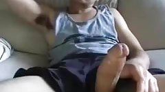 Hot Young Guy Stroking His Massive Thick Cock