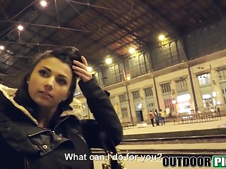 Cum blasting tube Cute hungarian teenie gets picked up and blasted with cum