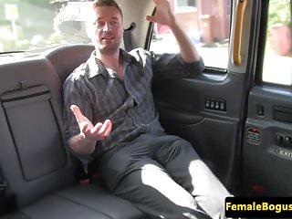 Cabbie tit brenda Busty british cabbie rides her customers cock