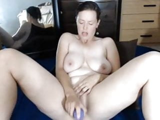 Hang sex Sexy milf big hanging naturals cums playing with pussy
