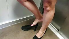 Szczere stopy dojrzałej sekretarki