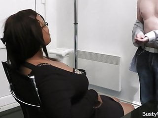 In lingerie office woman Office sex with big boobs ebony woman