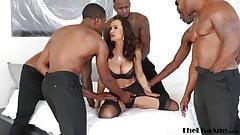Cougar Squirting MILF Black gang bang cum