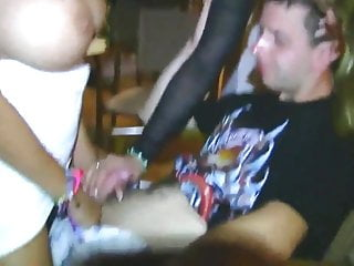 Best sexy threesome kssing and fucking My best friend with two sexy amateur girls