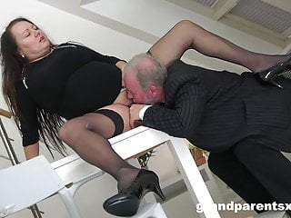 Asian citizen government worker Old perverted citizen fucks stepdaughter and wife - cfnm