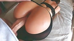 Hot amateur MILF in sexy lingerie gets fucked in doggystyle