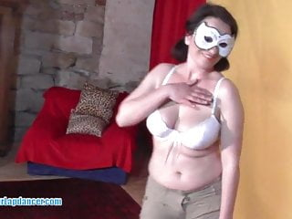Carneval nudes - Wild chick with carneval mask lapdances for horny boy