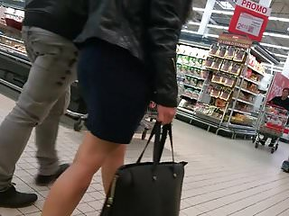 Sexy woman leg cast crutches Woman with sexy heels and nice legs doing shopping