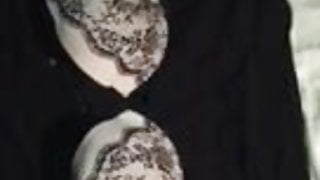Cum on used bra