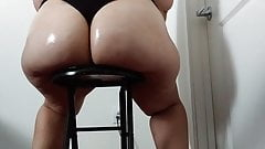 Thick bbw pawg big butt oiled tease booty massage rub thong