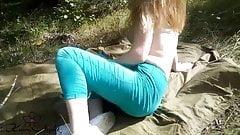 Girl Massage Boobs and Masturbate Pussy While Boyfriend Sear