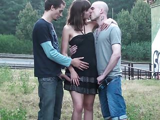 Sex pretty girl Pretty girl public street gangbang sex
