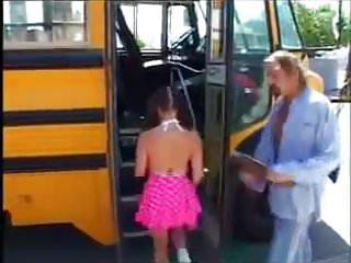 Naked bus driver Naughty schoolgirl fucks bus driver