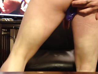 Purple briefs femdom Purple dildo self pegging