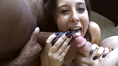 Local Teen Fucked by Big Black Cock in Threesome