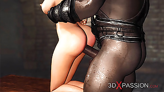 First anal! Black guy plays with a young slut blonde