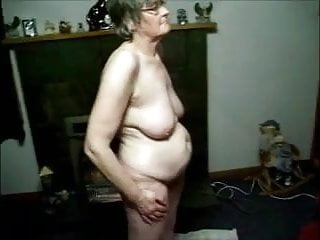 Best nude film - Granny filmed nude