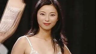 Asiatique lingerie fine chat poilu