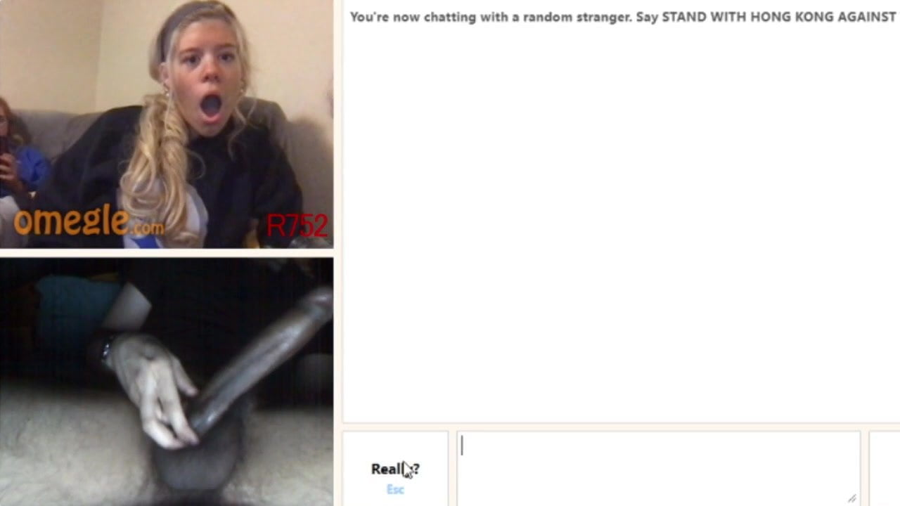 Huge Cock Reactions Omegle