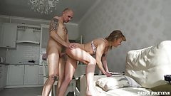 My wife naps while I humiliate and hard anal fuck her sister