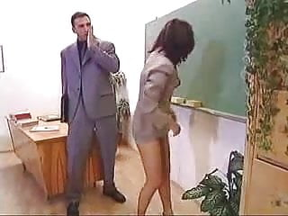 Teacher groaned spanked skirt Mature teacher with mini skirt fucked in class