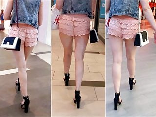 Sexy legs girl 49 girl with sexy legs in transparent pink shorts
