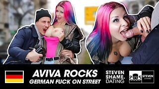 PUBLIC: SWISS CURVY GIRL gets BIG COCK! StevenShame.dating
