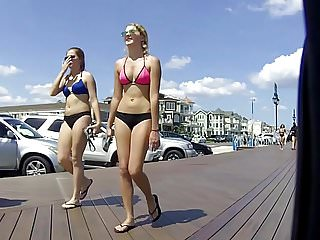 Tall blond amature gangbang Tall blond bikini not teen walking with not mom front only