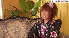 Asian geisha has her slightly hairy pussy fucked