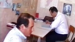 French Nana fucked by a guy and his teacher