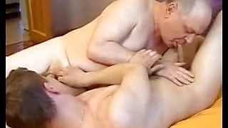 handsome Grandpa seducing younger guy