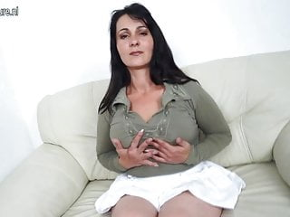 Mother of all tits - Hot mother masturbating when she is all alone