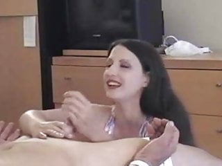 Asian be post Handjob and post orgasm torture