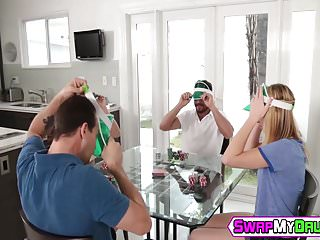 Sex stories father and daughter - The fathers first swap poker chips then daughters