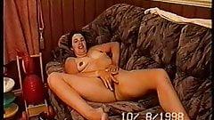 uk slut wife masturbating on couch